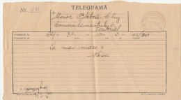 TELEGRAMME SENT FROM DEJ TO CLUJ NAPOCA, 1968, ROMANIA - Télégraphes