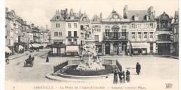 POSTAL   9.-  ABBEVILLE  -FRANCIA  - LA PLACE DE L'ALMIRAL-COUBERT ( PLAZA DEL ALMIRANTE COUBERT ) - Abbeville