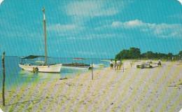 Mexico Beach Scene On Island Of Cozumel