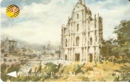TARJETA DE MACAO DE LAS RUINAS DE S. PAULO DE CTM MOP50 (9MACB) - Macau