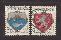 Czechoslovakia  Tschechoslowakei  1986 Gest. Mi 2850, 2851 Sc 2595, 2596 City Arms . Städtewappen. - Czechoslovakia