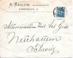 DANEMARK. N°37 Sur Enveloppe Ayant Circulé En 1896. - 1864-04 (Christian IX)