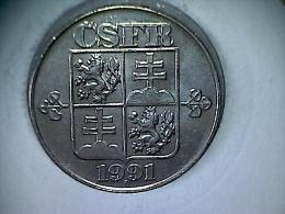 Tchecoslovaquie - 2 Koruny 1991 - Czechoslovakia