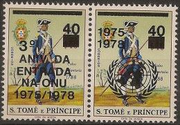 SAO TOME AND PRINCIPE 1977  3rd Anniversary Of The UNO Entry - Sao Tome Et Principe
