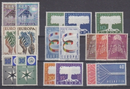 Europa Cept 1957 Year Set 9 Countries 18 Values ** Mnh (original Gum !!!) (23230) - Europa-CEPT