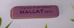 1 GOMME VIOLETTE MALLAT BUREAU TRIPLEX MARQUEUR REFERENCE 488-32 FRANCE 6,5X1,4X0,8cm FERMETURE LIBRAIRIE PAPETERIE MAUV - Ohne Zuordnung
