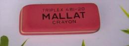 1 GOMME ROSE MALLAT BUREAU CRAYON TRIPLEX REFERENCE 481-20 FRANCE 6,5X2,5X0,8cm FERMETURE LIBRAIRIE PAPETERIE - Ohne Zuordnung