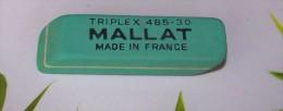 1 GOMME VERTE MALLAT BUREAU CRAYON DE PAPIER REFERENCE 485-30 FRANCE 6,4X1,7X1,6cm FERMETURE LIBRAIRIE PAPETERIE - Ohne Zuordnung