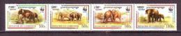 Cambodge 1997 Y WWF Fauna Animals Elephants Mi No 1680-83 MNH - W.W.F.