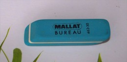 1 GOMME BLEUE MALLAT BUREAU CRAYON DE PAPIER REFERENCE 463-30 FRANCE 6,4X1,7X1,6cm FERMETURE LIBRAIRIE PAPETERIE - Ohne Zuordnung