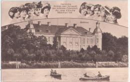 SCHWEDT An Der Oder Schloss Ruder Boote Viele Hübsche Mädchen Infla Frankatur 26.6.1920 Gelaufen - Schwedt