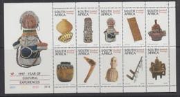 South Africa 1997 Year Of Cultural Experiences 10v In Sheetlet ** Mnh (23234) - Blokken & Velletjes