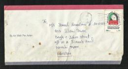 United Arab Emirates UAE  Air Mail Postal Used Cover U A E To Pakistan - Abu Dhabi