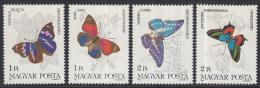 Hongarije - Schmetterlinge/Vlinders - MNH - M 3681A-3687A - Vlinders