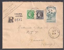 ARIEGE - Cachet De Recommandé Provisoire De SIGUIER 1945 - 1921-1960: Modern Period