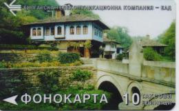 BULGARIA PHONECARD (MAGNETIC )HOUSE AND BRIDGE   A27 - 90000pcs-1995-USED - Bulgarie