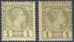 1885: Michel-No. 1 Both Colours MNH - Neufs