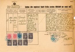 Romania, 1947, Vintage Birth Register Extract - Kingdom Period, Colibasi - Documentos Históricos