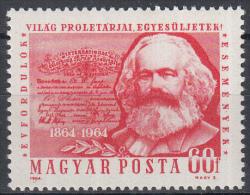 Hongarije - 100 Jahrestag Der Gründung Der Ersten Internationalen - Karl Marx - MNH - M 2068A - Karl Marx