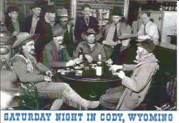 USA CODY (Wyoming) Saturday Night - Old Timer Playing Poker - Jeu De Cartes Au Saloon - Ancienne Photo, Bar, Alcool - Cody