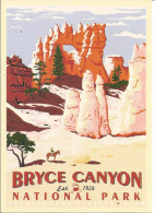 USA Bryce Canyon National Park - 1924 - Affiche Ancienne, Illustrée, Artist C.D. Cross - Edit Impact - Bryce Canyon