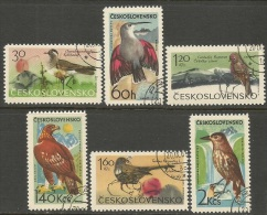 Czechoslovakia    1965    Sc#1339-44  Birds Set  Used  2016 Scott Value $4.05 - Gebraucht
