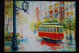 Vlada Radovanova TRAMWAY - Tram In Art  - Modern Ukrainian  Postcard 2014 - Tramways