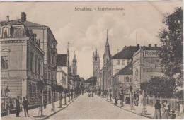 AK - STRAUBING -  Strassenansicht Eisenbahnstrasse Um 1910 - Straubing