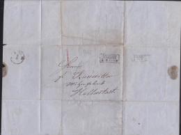 Brief 1865 Aus NEUSTADT MAGDEBURG Nach Halberstadt - Germania
