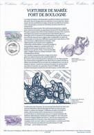 1998  Document: Hist. int�ressante des Voituriers de Mar�e( ou Chasse-Mar�e) Port de Boulogne Illustrations