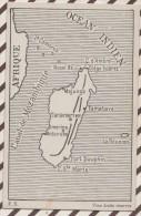 5AH1893 MADAGASCAR CARTE GEOGRAPHIQUE 2 SCANS - Madagascar