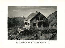 Original Ansicht/ Photographie Von 1927 , Bordierhütte , St. Niklaus , Saas Fee ,  Ca. 20x13 , Berghütte !!! - VS Wallis