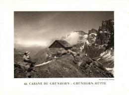 Original Ansicht/ Photographie Von 1927 , Grünhornhütte , Linthal , Glarus , Ca. 20x13 , Berghütte !!! - GL Glarus