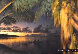 Polynésie Française- Les Iles Du Pacifique Sud  (a) MOOREA Coucher De Soleil  Sur Une Plage (pirogue Sunset CP 137) - Polynésie Française