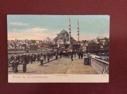 COSTANTINOPOLI - COSTANTINOPOLI  - LE PONT DE GALATA -    Non Viaggiata - Turchia