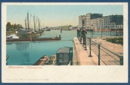 Mannheim Hafenpartie Schiffe, Photochromiekarte Ungebraucht (AK79) - Mannheim