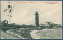 Cuxhaven Leuchtturm Seepavillon, Gelaufen 1907 Mit Bahnpost (AK112) - Cuxhaven