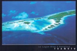 Polynésie Française- Les Iles Du Pacifique Sud  (a) -TUAMOTU Le Lagon Bleu Sur L´Atoll De Rangiroa (CP 053 ) - Polynésie Française