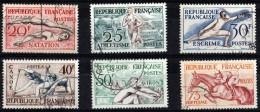 FRANCE 1953 N° 960/65 OBLITERES JO HELSINKI - Francia