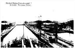 (PH 543) Panama Canal And Warship - Warships