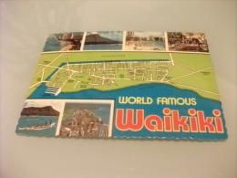 Carta Geografica WAIKIKI WORLD FAMOUS  VEDUTINE U.S.A. - Landkarten