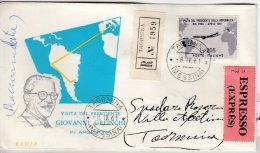Itaien - 205 L. Visita Gronchi, Eil-Einschreibebrief/Schmuckkuvert Taormina 1961 - Italia