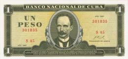 "1967  1 - PESO    UNCIRCULATED ( SIN CIRCULAR )   "" BANCO NACIONAL """
