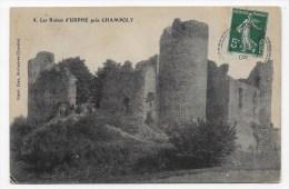LES RUINES D' URFE PRES DE CHAMPOLY EN 1908 - N° 8 - CPA VOYAGEE - France