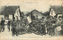 SAINT DIE LE DRAPEAU DES BATAILLONS DE CHASSEURS A PIED EXPOSE AU 10e  BATAILLON - Saint Die