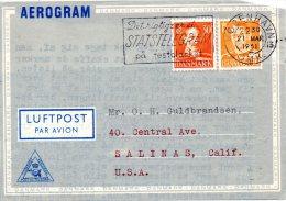 DANEMARK. Aérogramme Ayant Circulé En 1951. - Andere