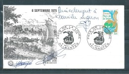 Enveloppe Premier Jour  Avec Le  N°1849  ( Dédicacée )  6/09/75 - Documents De La Poste