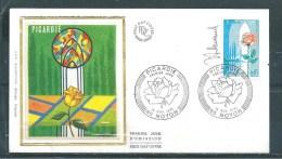 Enveloppe Premier Jour  Avec Le  N°1847  ( Dédicacée )  15/11/75 - Documents De La Poste