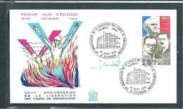 Enveloppe Premier Jour  Avec Le  N°1853  ( Dédicacée )  27/09/75 - Documents De La Poste