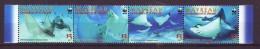 Mayreau 2009 Y  WWF Fauna Animals Spotted Eagle Ray Mi No 846-49 MNH - Unused Stamps